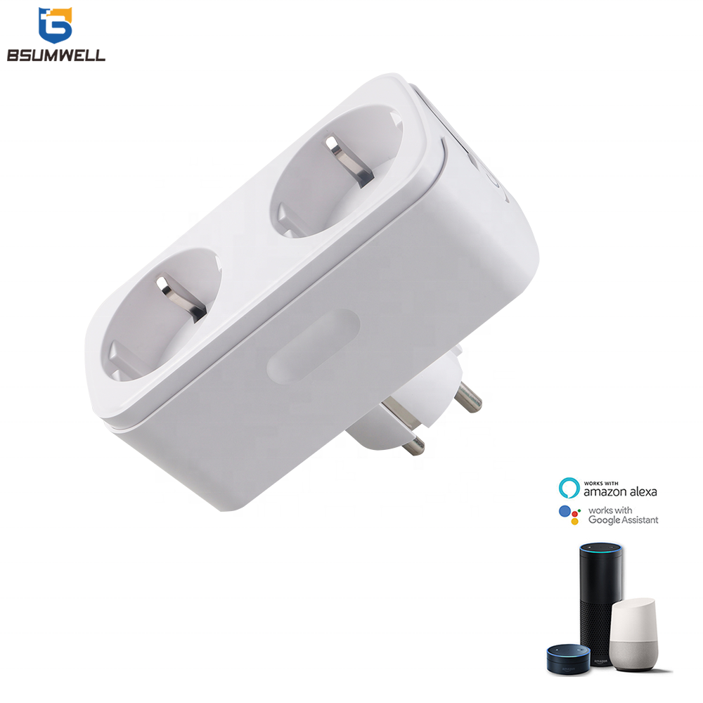 Newest 16A 2Pin Round European Standard Electric Power Wifi Smart Plug