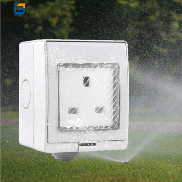 WPS-S UK style waterproof WIFI socket Work with Alexa
