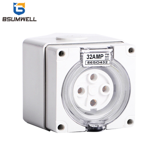 Australia Standard three phase 56SO410 4 round pin 250V/500V 10A Electric waterproof industrial socket with CE Approval