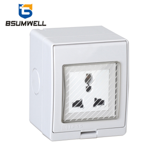 PS-U Multi-function Type 10A IP55 Waterproof 1 Gang Socket
