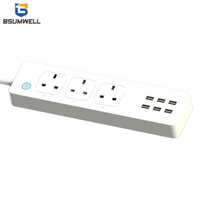 PS336 Smart socket (3 US type AC outputs+2 USB outputs) Work with Alexa