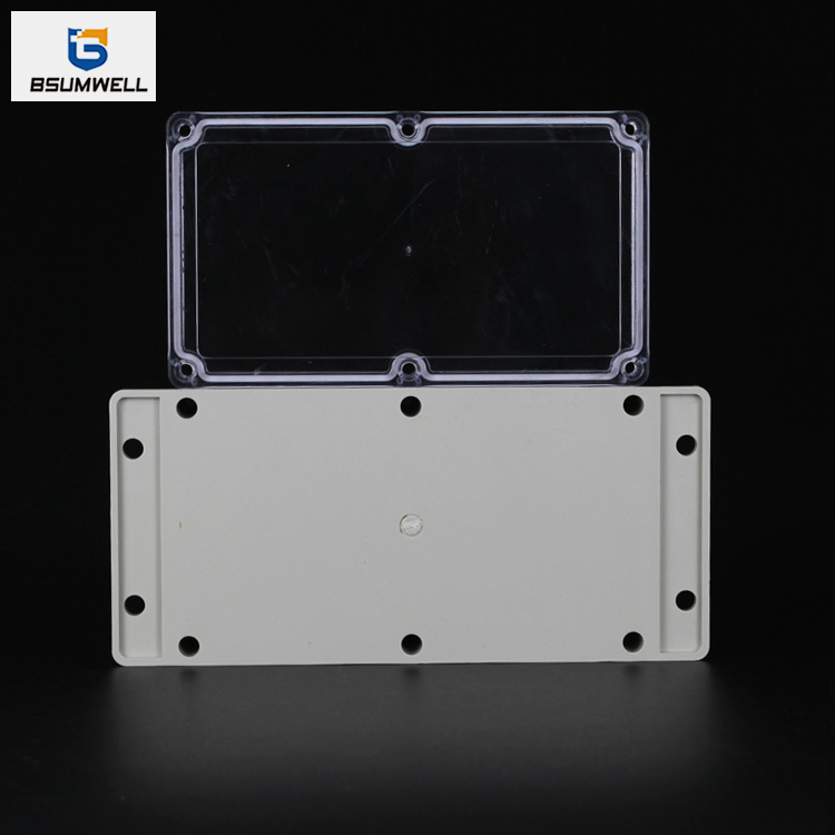 158*90*46mm IP67 Waterproof ABS PC Plastic Junction Box with Ear