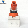Australia Standard 56PA520 three phase 250V/500V 20A 3P+E+N 5 round pin Waterproof Angled industrial plug with CE Approval