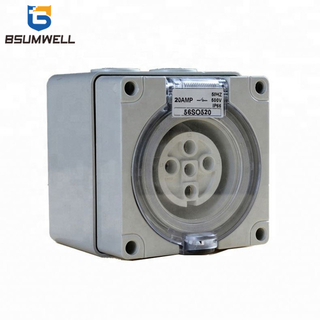 Australia Standard Three phase 56SO550 5 round pin 250V/500V 50A Electric waterproof industrial socket with CE Approval