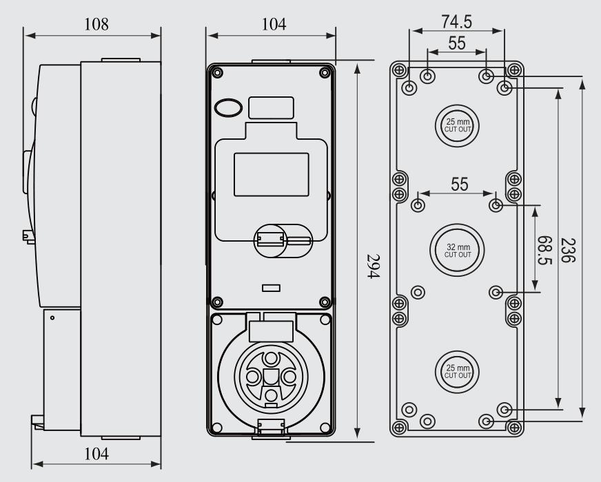 Ps-56cv-e3 Ip65 Combination Switch Socket