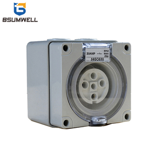 Australia Standard Three Phase 56SO532 5 Round Pin Plug 250V/500V 32A Electric Waterproof Industrial Socket