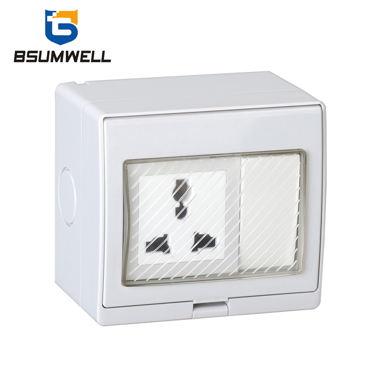 PS-US Multi-function Type 10A IP55 Waterproof 1 Gang Switch Socket
